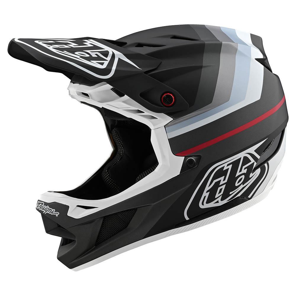 Troy Lee Designs D3 Carbon Mips Helmet Midnight Chrome BMX//MTB//Bicycle