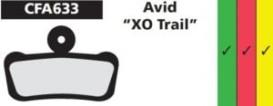 EBC Gold Brake Pad AVID XO Trail / SRAM Guide